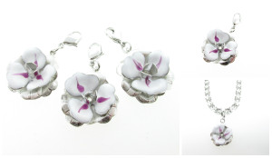 Hand Painted Flower Necklace Enhancer