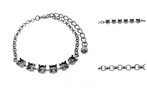 6mm (29ss) 6 Box Empty Bracelet With Small Smooth Rolo Chain