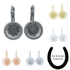 The Branded Collection - 11mm (47ss) Chaton Lever Back Casted Earrings