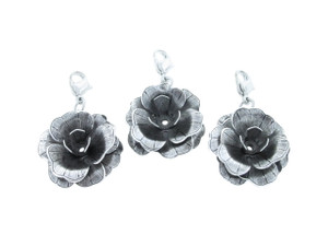 Large Flower Element Necklace Enhancer Silver Ox
