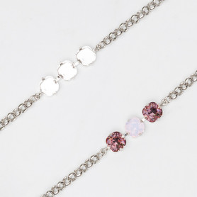 10mm Square | Classic Three Setting Bracelets | Three Pieces