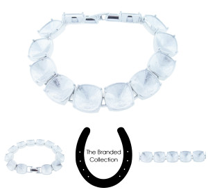 The Branded Collection - 12mm Square Cushion Cut Twelve Box Casted Bracelet Rhodium