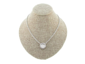 12mm Square Cushion Cut Single Pendant With Crystal Rhinestones Empty Necklace Small Smooth Rolo Chain