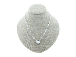 12mm Square Cushion Cut Single Pendant Empty Necklace With Chanel Chain