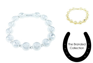 The Branded Collection - 8.5mm (39ss) Chaton Fourteen Station Casted Luminous Bracelet for swarovski crystals
