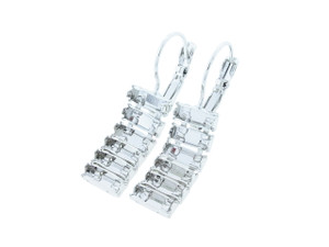 7mm x 3mm Baguette Six Box Empty Dangle Earrings for swarovski