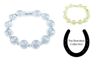 The Branded Collection - 8.5mm (39ss) Chaton Twelve Station Casted Luminous Bracelet for Swarovski