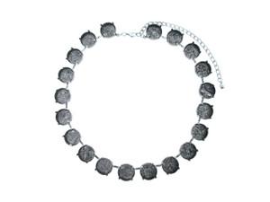 18mm Rivoli Round 20 Box Empty Necklace in Silver Ox