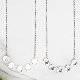 18mm Round   Classic Five Setting Necklace   One Piece