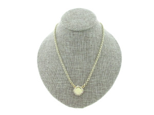 12mm Rivoli Round Single Pendant With Crystal Rhinestones Empty Necklace Small Smooth Rolo Chain