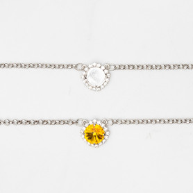 12mm Round | Crystal Halo Pendant Necklace | One Piece