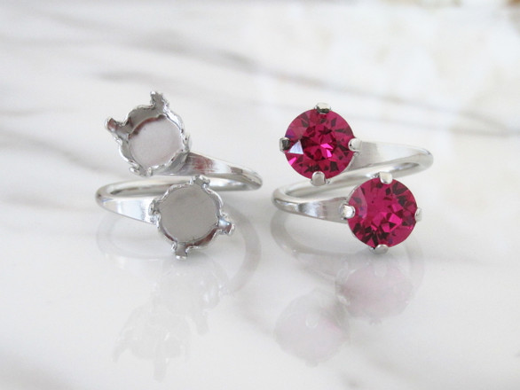 8.5mm (39ss) Double Setting Adjustable Ring