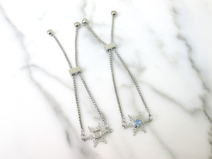 6mm (29ss) Snowflake Empty Slider Bracelet | One Piece