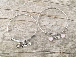2018 Charm With Two 8.5mm (39ss) Empty Settings Expandable Bracelet | One Piece