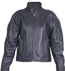 Black Soft Naked Leather Womens Motorcycle biker Jacket