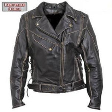 Antique Brown Rub-Off Leather Motorcycle Jacket Womens Very Popular