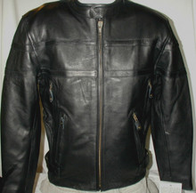 AAA Black Premium Mens Naked Leather Cruiser Vented motorcycle biker Jacket ON SALE