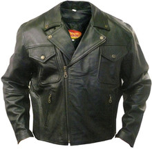 Men's Top Grain Black Buffalo Leather Motorcycle Jacket