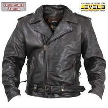 Armored Distressed Retro Brown Premium Leather Motorcycle Biker Jacket