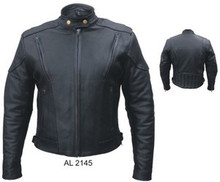 BLACK NAKED LEATHER WOMENS TOURING MOTORCYCLE JACKET