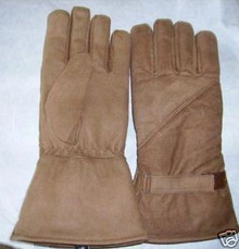 Brown Insulated Leather Motorcycle Gloves