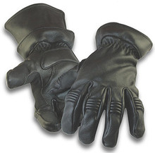 2 in 1 Black Deerskin Leather Motorcycle Glove, Driving Glove