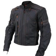Black Vulcan Street Racer Premium Leather Motorcycle Biker Jacket