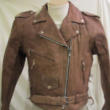 A Buff Brown Womens Premium Leather Motorcycle biker Jacket $229
