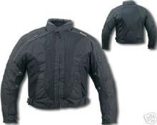 Mens Black Mesh Duratex 600D Armored Motorcycle biker Jacket w/Waterproof Z/O Linings New
