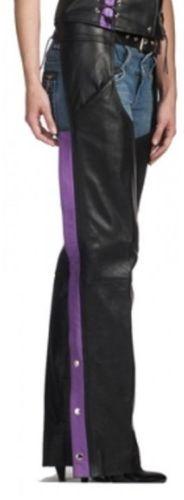 Womens Black & Purple Premium Chaps
