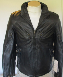 Armored Vented Womens Leather Motorcycle Biker Jacket Z/O lining by Xelement