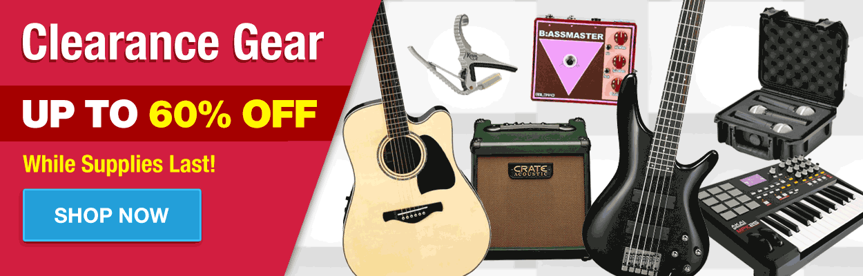 Clearance Sale! Up to 60% Off Guitars, Amps and more!