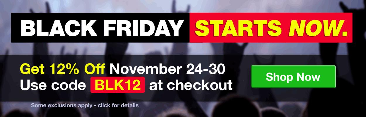 Black Friday Sale - 12% Off Your Order click for details
