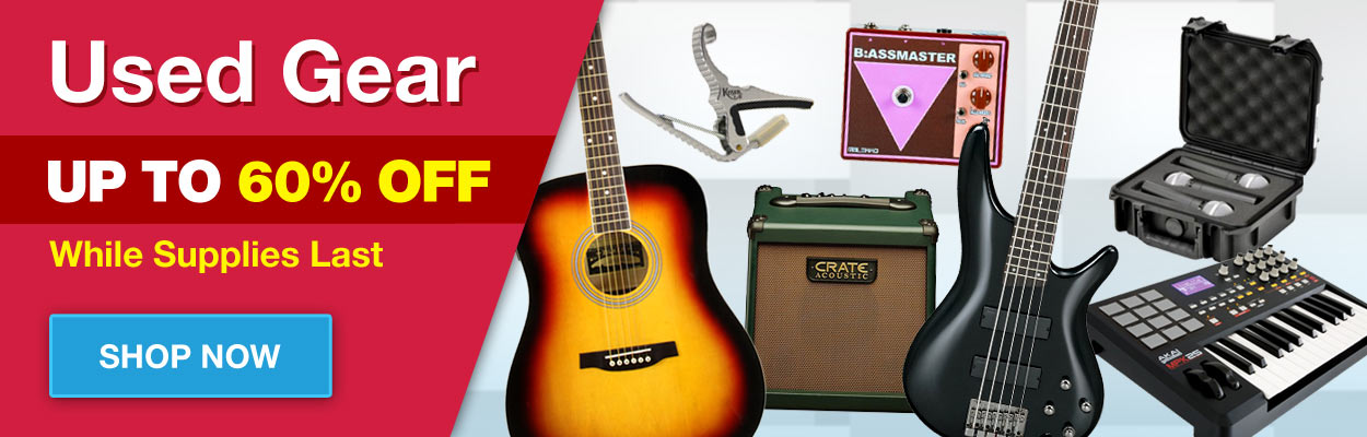 60% Off Used Music Gear