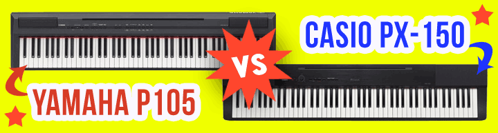 casio px 150 vs yamaha p105 a duel to the death. Black Bedroom Furniture Sets. Home Design Ideas