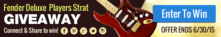 Enter to Win a Fender Deluxe Players Strat! Click here to enter