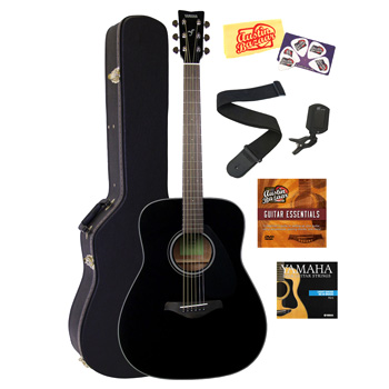 Yamaha FG800 Acoustic Guitar Bundle - Black