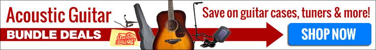 Save big with Acoustic Guitar Bundles!