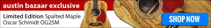 Austin Bazaar exclusive Oscar Schmidt Spalted Maple OG2SM Acoustic Guitar