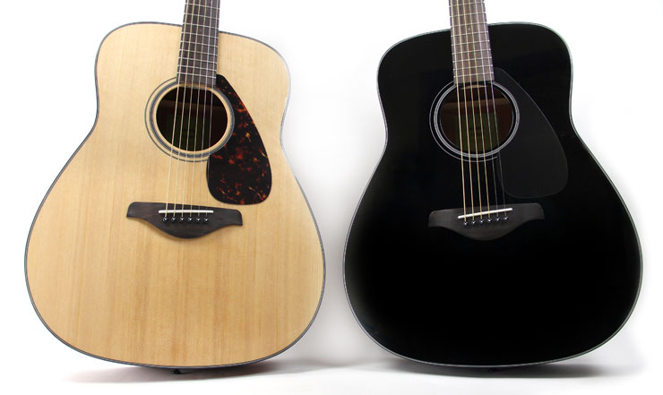 The new Yamaha FG800 in Natural and Black (Austin Bazaar exclusive) finishes