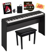 Yamaha P-35 88-Key Digital Piano Bundle Furniture-Style Stand, 3-Pedal System, Bench, and Instructional Book - Black Full View