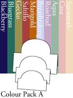 Tri-Fold Ovals - Colour Pack A