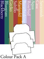 Tri-Fold Labels 4 - Colour Pack A