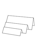Tri-Fold Right - Bazzill White 10pk