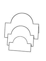 Tri-Fold Circles - Bazzill White 10pk