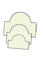 Tri-Fold Circles - French Vanilla 10pk