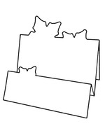 2Fold Poinsettia - Bazzill White 10pk