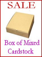Box of Mixed cardstock/paper