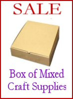 Box of Mixed Craft Supplies