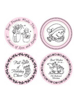 Old Fashioned Christmas - Borders & Centres 3-1/4""